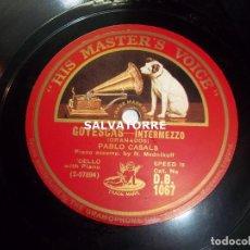 Discos de pizarra: PAU CASALS. GOYESCAS. TOCCATA IN G MAYOR.BACH.PIANO N.MEDNIKOFF.LA VOZ DE SU AMO.MASTER VOICE.D.B.10. Lote 121936179
