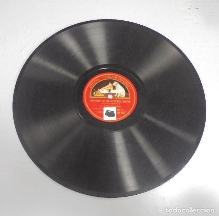 DISCO DE GRAMOFONO. LA VOZ DE SU AMO. VALS EN LA BEMOL MAYOR / IMPROMPTU EN LA BEMOL MAYOR (Música - Discos - Pizarra - Otros estilos)