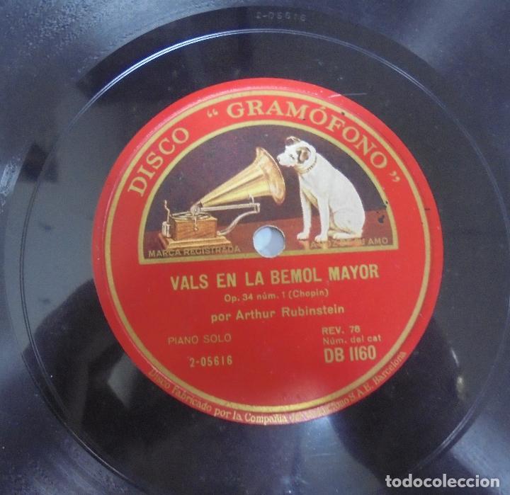 Discos de pizarra: DISCO DE GRAMOFONO. LA VOZ DE SU AMO. VALS EN LA BEMOL MAYOR / IMPROMPTU EN LA BEMOL MAYOR - Foto 2 - 121964451