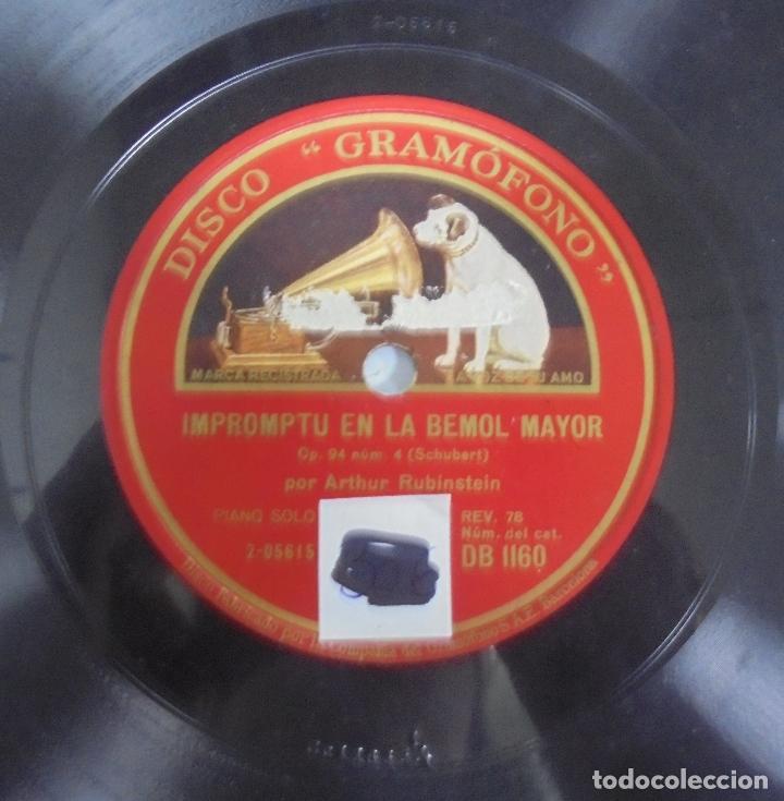 Discos de pizarra: DISCO DE GRAMOFONO. LA VOZ DE SU AMO. VALS EN LA BEMOL MAYOR / IMPROMPTU EN LA BEMOL MAYOR - Foto 3 - 121964451