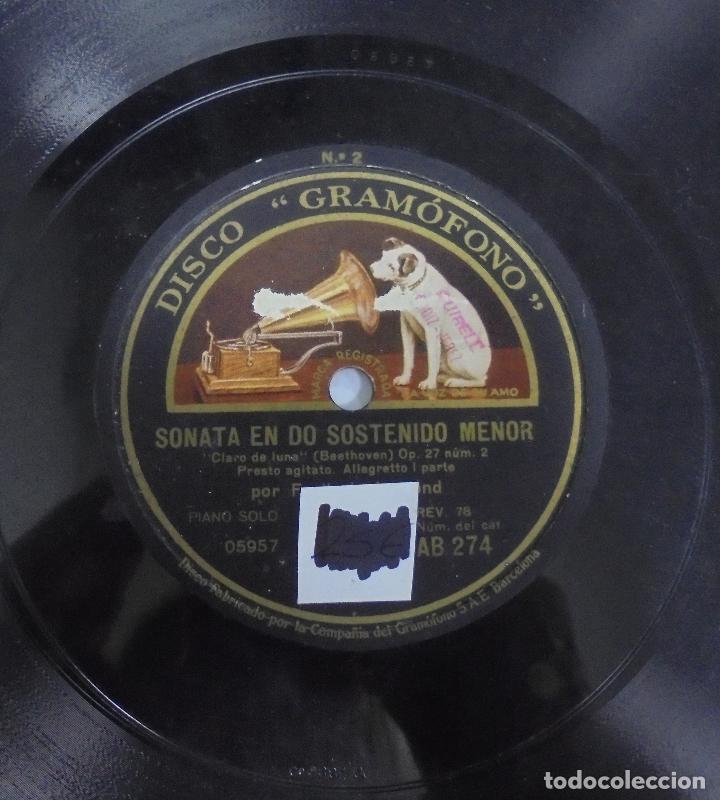 Discos de pizarra: DISCO DE GRAMOFONO. LA VOZ DE SU AMO. SONATA EN DO SOSTENIDO MENOR - Foto 2 - 121964739