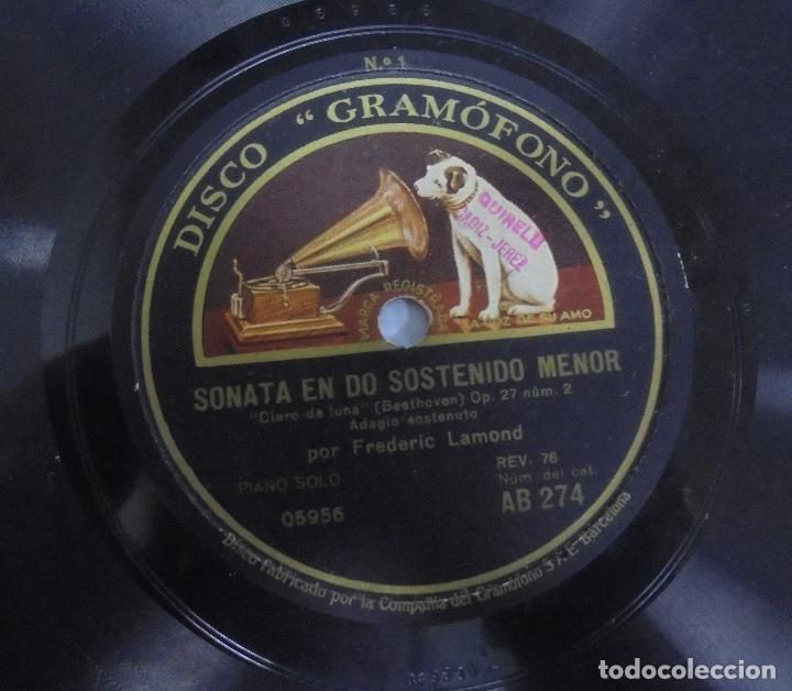 Discos de pizarra: DISCO DE GRAMOFONO. LA VOZ DE SU AMO. SONATA EN DO SOSTENIDO MENOR - Foto 3 - 121964739