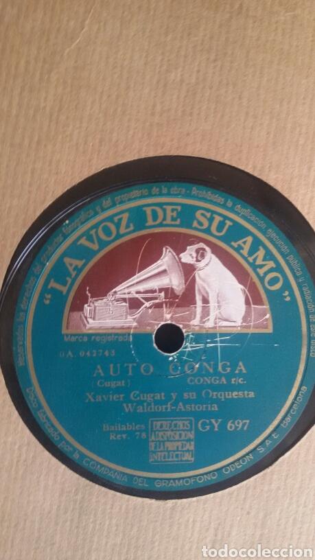 Discos de pizarra: LA CUMPARSITA - XAVIER CUGAT Y SU ORQUESTA Waldorf Astoria. Pizarra. La voz de su amo. GY 697 - Foto 3 - 122086963