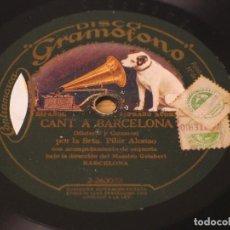 Discos de pizarra: SRTA. PILAR ALONSO - CANT A BARCELONA 2-263072 / ES EL TRAMVIA 2-263073 - LA VOZ DE SU AMO. Lote 122162915