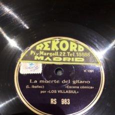 Discos de pizarra: DISCO DE PIZARRA RECITADO CÓMICO POR VILLASIUL. Lote 122219051