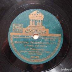Discos de pizarra: DISCO 78 RPM - LOS TRASHUMANTES - ODEON - PIZARRA. Lote 122278147