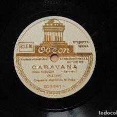 Discos de pizarra: SERENATA DE LAS MULAS (FRIMI-STOTHART) / CARAVANA (DUKE ELLINGTON)FOXTROT ORQUESTA MARTIN DE LA ROSA. Lote 122278971