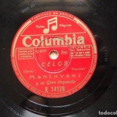 Discos de pizarra: MANTOVANI Y SU ORQUESTA / CELOS / LA CUMPARSITA (COLUMBIA R 14128). Lote 122281263
