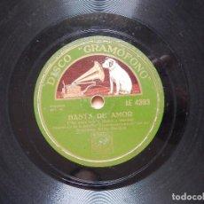 Discos de pizarra: DISCO DE PIZARRA - ORQ. EDDY DUCHIN - BASTA DE AMOR / FORMA UN HOGAR. Lote 122281371