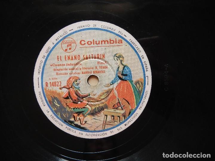ANTIGUO Y RARO DISCO DE GRAMOFONO DEL CUENTO EL ENANO SALTARIN ORIGINAL DE LOS AÑOS 1930-40 (Música - Discos - Pizarra - Bandas Sonoras y Actores )