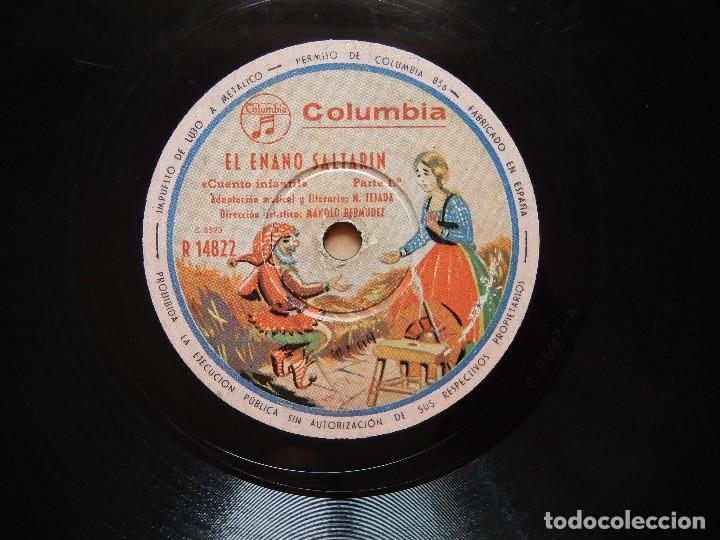 Discos de pizarra: ANTIGUO Y RARO DISCO DE GRAMOFONO DEL CUENTO EL ENANO SALTARIN ORIGINAL DE LOS AÑOS 1930-40 - Foto 4 - 122281487
