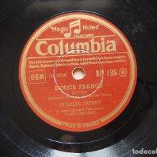 Discos de pizarra: CHARLES TRENET - N'Y PENSEZ PAS TROP - DOUCE FRANCE. Lote 122282555