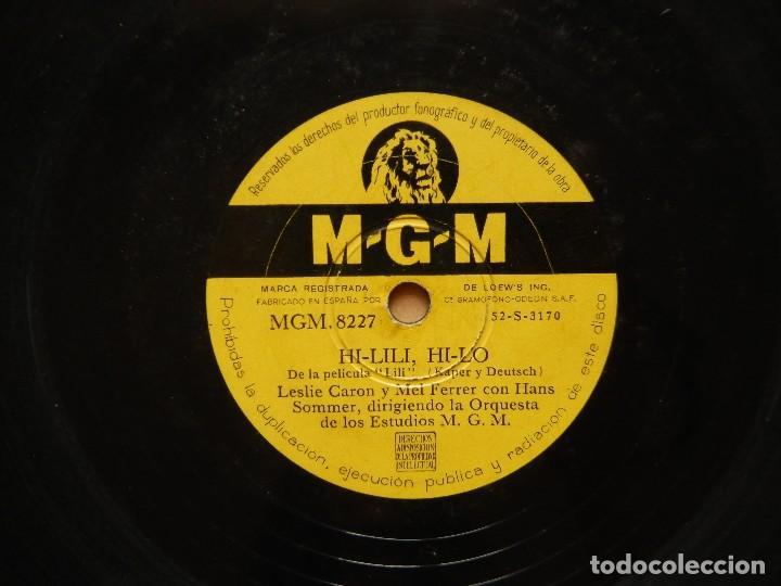 HANS SOMMER: ADORACION + HI-LILI HI-LO - DISCO DE PIZARRA MGM (Música - Discos - Pizarra - Bandas Sonoras y Actores )