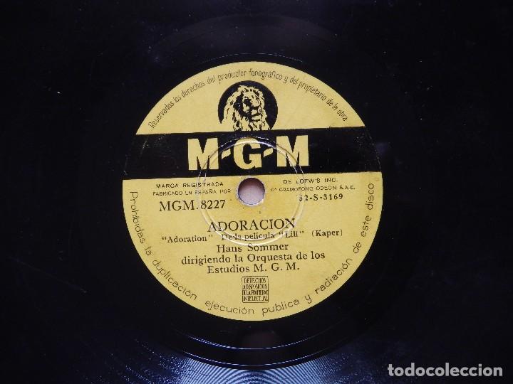 Discos de pizarra: HANS SOMMER: ADORACION + HI-LILI HI-LO - DISCO DE PIZARRA MGM - Foto 3 - 122283291