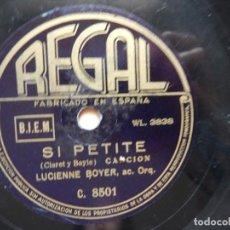 Discos de pizarra: LUCIENNE BOYER SANS TOI - SI PETITE. Lote 122283595