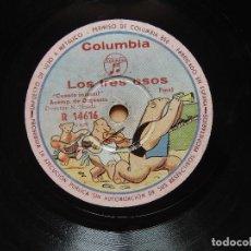 Discos de pizarra: LOS TRES OSITOS . Lote 122284095