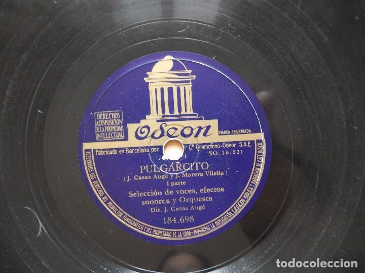 CUENTO PULGARCITO DISCO DE PIZARRA - ODEON (Música - Discos - Pizarra - Otros estilos)