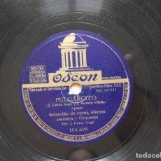 Discos de pizarra: CUENTO PULGARCITO DISCO DE PIZARRA - ODEON . Lote 122284347