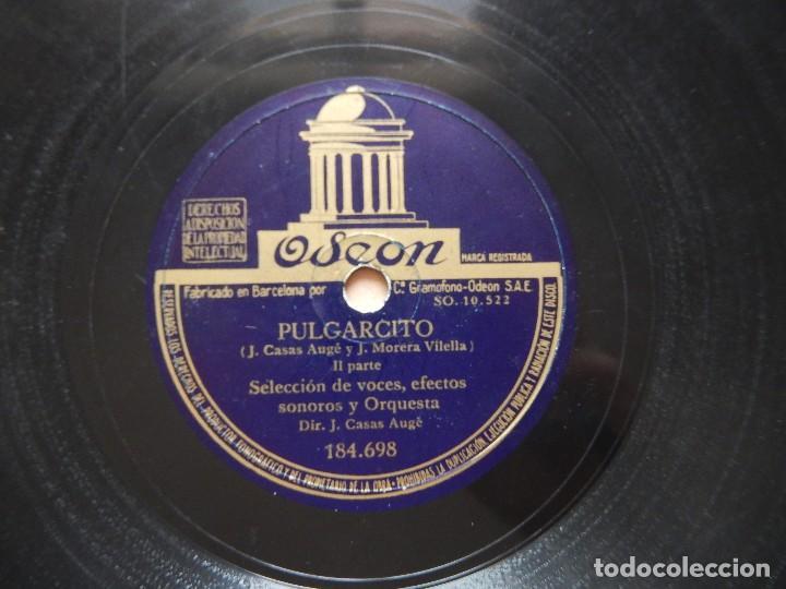 Discos de pizarra: CUENTO PULGARCITO DISCO DE PIZARRA - ODEON - Foto 3 - 122284347