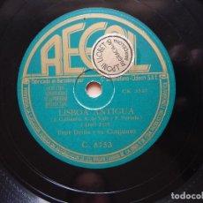 Discos de pizarra: LISBOA ANTIGUA - MI GRAN AMOR - PEPE DENIS Y SU CONJUNTO. Lote 122286775