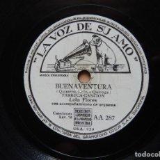 Discos de pizarra: LOLA FLORES / BUENAVENTURA / LA NIÑA BELEN (RUMBA) LA VOZ DE SU AMO. Lote 122286883
