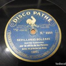 Shellac Records - NIÑA DE LOS PEINES - SEVILLANAS BOLERAS / CARTAGENERAS - DISCO PIZARRA PATHÉ - FLAMENCO - 122306555