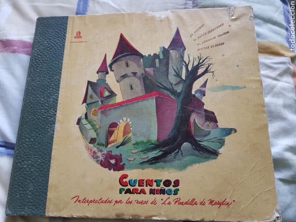 CUENTOS PARA NIÑOS ANTIGUOS RAROS 4 DISCOS PIZARRA (Música - Discos - Pizarra - Otros estilos)