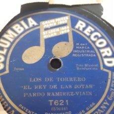 Discos de pizarra: EL REY DE LA JOTA JUANITO PARDO DISCO DE PIZARRA. Lote 122966822