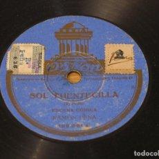 Discos de pizarra: RAMON PEÑA - SOL FUENTECILLA / VAYA UN CUARTITO - ODEON 182.261. Lote 124173595