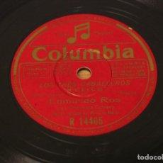 Discos de pizarra: EDMUNDO ROS Y SU ORQUESTA CUBANA - LOS TRES CABALLEROS: MEXICO (CANTA RONALDO MAZAR) / BAHIA. Lote 124176279