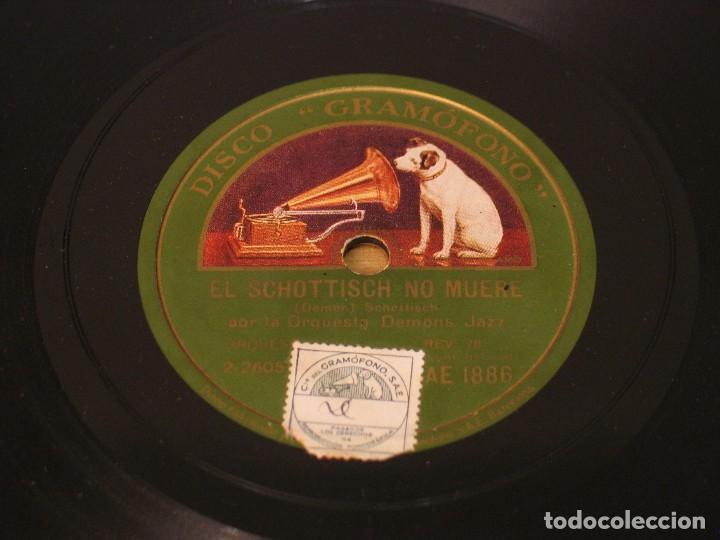 ORQUESTA DEMONS JAZZ - EL SCHOTTISCH NO MUERE / THE DEMONS CHARLESTON - LA VOZ DE SU AMO AE 1886 (Música - Discos - Pizarra - Solistas Melódicos y Bailables)