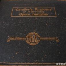 Discos de pizarra: MASCAGNI - CAVALLERIA RUSTICANA. OPERA COMPLETA - 10X DISCOS DE PIZARRA EN SU ALBUM - REGAL. Lote 124200151