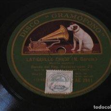 Dischi in gommalacca: BANDA DEL REGIMIENTO BADAJOZ Nº 73 - LATIGUILLO CHICO / EL FALLERO - LA VOZ DE SU AMO AE 2951. Lote 124254679