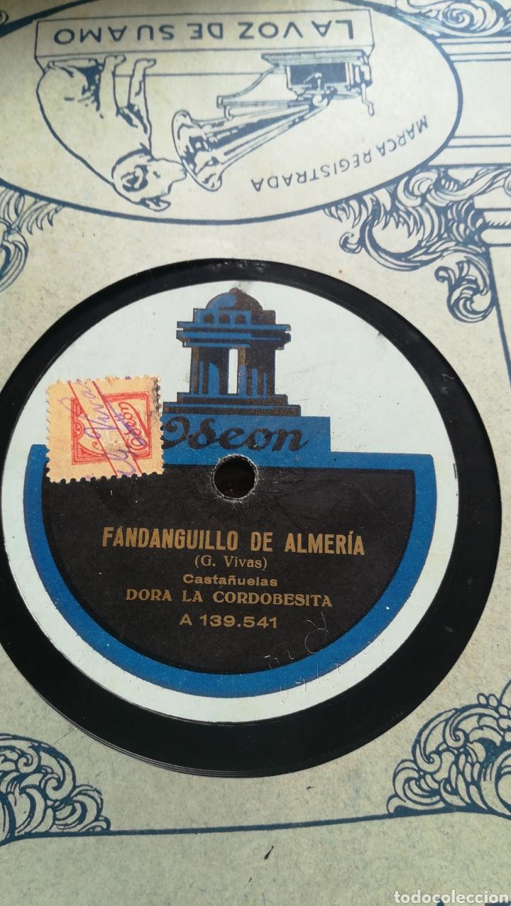 Discos de pizarra: Fandanguillo de Almería. Dora la cordobesa - Foto 2 - 124263558