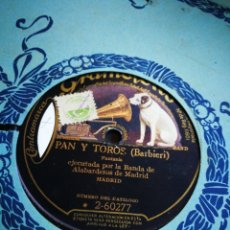 Discos de pizarra: PAN Y TOROS. BARBIERI.. Lote 124484903