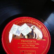Discos de pizarra: PRINCESITA. POR TIOSCHIPA. Lote 124485182