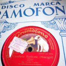 Discos de pizarra: CABALLERIA RUSTICA. MASCAGNI.. Lote 124487240