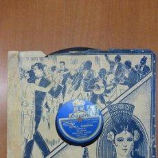 Discos de pizarra: ORQUESTA PLANAS - VENTA ERITAÑA (PASODOBLE) / NICOLAS. DISCO PIZARRA ODEON CON CARATULA.. Lote 124556723
