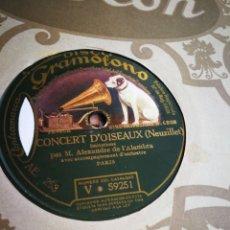Discos de pizarra: CINCERT D'OISEAUX. NEUZILLET. Lote 124697284