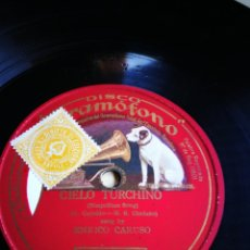 Discos de pizarra: CIELO TURCHINO. ENRRICO CARUSO. Lote 124697698