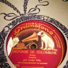 Discos de pizarra: REPONSE DE COLOMBINE. LUISA VELA. Lote 124894135