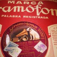 Discos de pizarra: ALEGRIA DE AMAR Y SUEÑOS DE PIERRO. Lote 124899906