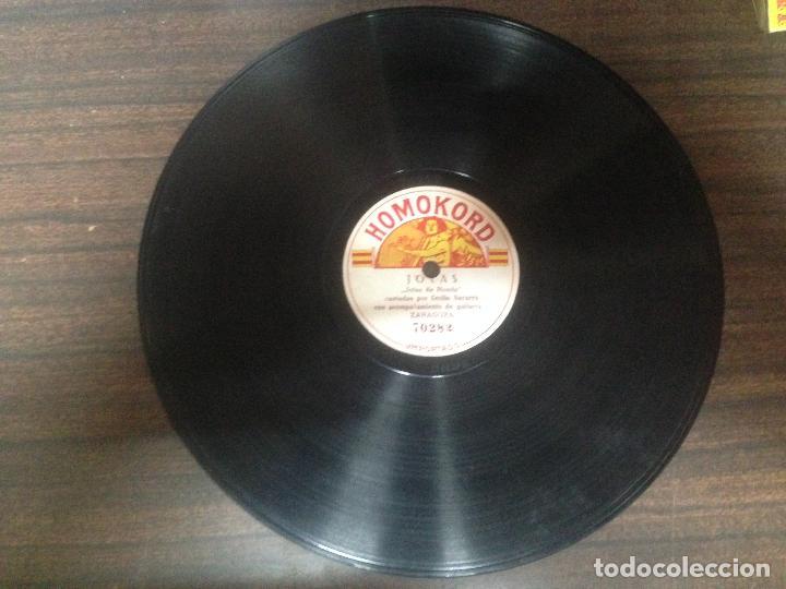 ANTIGUO DISCO PIZARRA JOTAS DE RONDA JOTAS POR CECILIO NAVARRO (Música - Discos - Pizarra - Flamenco, Canción española y Cuplé)