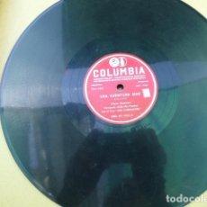 Discos de pizarra: HERNANDO AVILES. UNA AVENTURA MAS - MAS DAÑO ME HIZO TU AMOR. COLUMBIA. MX-1947. PERU.. Lote 125378219