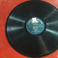 Discos de pizarra: DISCO PIZARRA THE PEERLESS ORCHESTRA VALSE ZONOPHONE RECORD. Lote 125851638