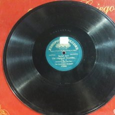 Discos de pizarra: DISCO PIZARRA THE CALEDONIAN ORCHESTRA FIG. 5 Y 6 ZONOPHONE RECORD. Lote 125851998