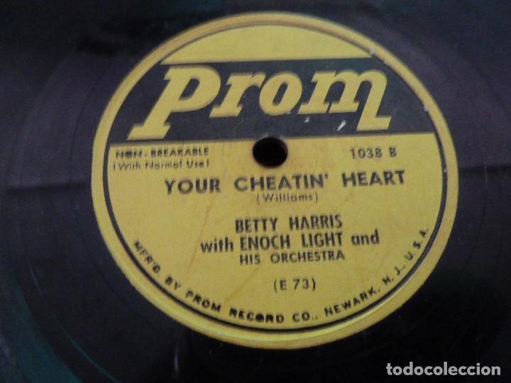 Discos de pizarra: PROM RECORD - THE DOGGIE IN THE WINDOW - YOUR CHEATIN HEART - MADE IN USA - Foto 2 - 125898983