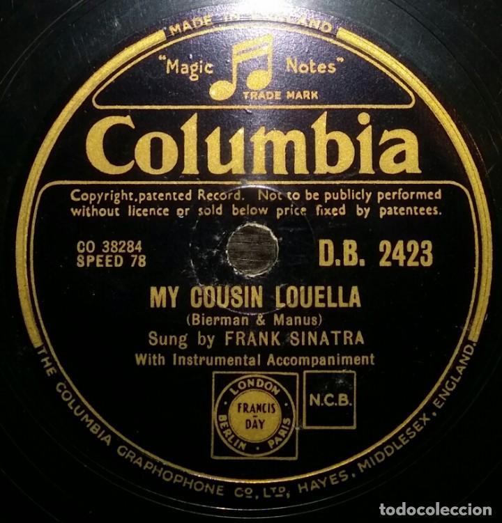 DISCOS 78 RPM - FRANK SINATRA - FILM - ROAD TO RIO - MY COUSIN LOUELLA - BUT BEAUTIFUL - PIZARRA (Música - Discos - Pizarra - Solistas Melódicos y Bailables)