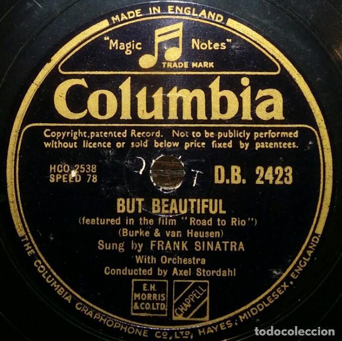 Discos de pizarra: DISCOS 78 RPM - FRANK SINATRA - FILM - ROAD TO RIO - MY COUSIN LOUELLA - BUT BEAUTIFUL - PIZARRA - Foto 2 - 126354343