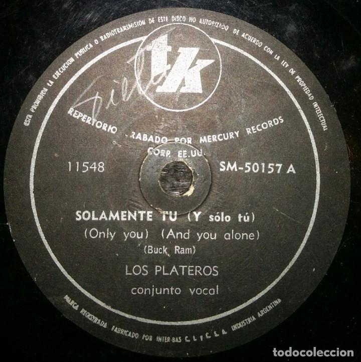 DISCOS 78 RPM - THE PLATTERS - ONLY YOU - EL GRAN SIMULADOR - BUCK RAM - PIZARRA (Música - Discos - Pizarra - Jazz, Blues, R&B, Soul y Gospel)